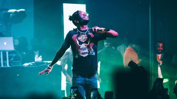 Lil Uzi Vert performing, 2018