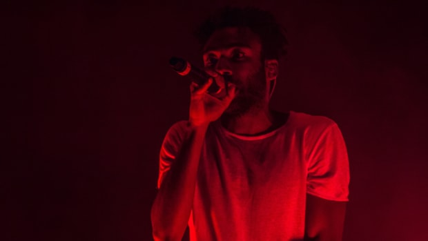 Childish Gambino, performing at Bonnaroo