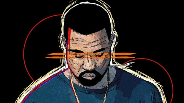 Kanye West illustration, Trump, Twitter, 2018