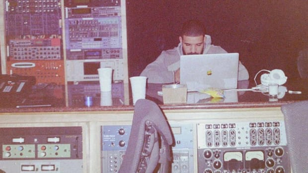 Drake in the studio, 2018