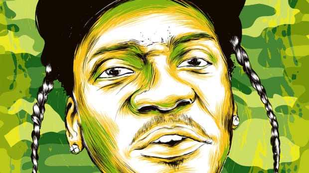 Pusha T Lost Interview, art by Keith Vlahakis