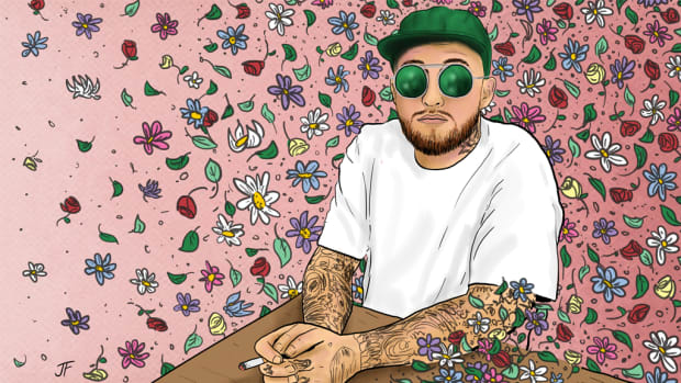 Mac Miller Year of Mac illustration, 2018