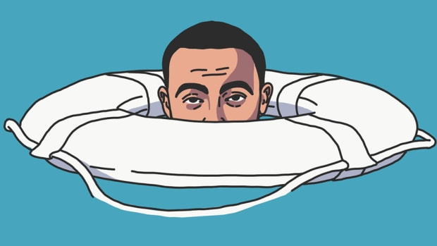 Mac Miller, Swimming, art, illustration, 2019