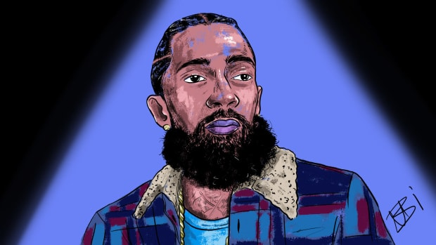 Nipsey Hussle, illustration, by Nabi Bilal