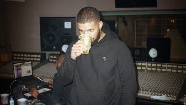 Drake in the studio.