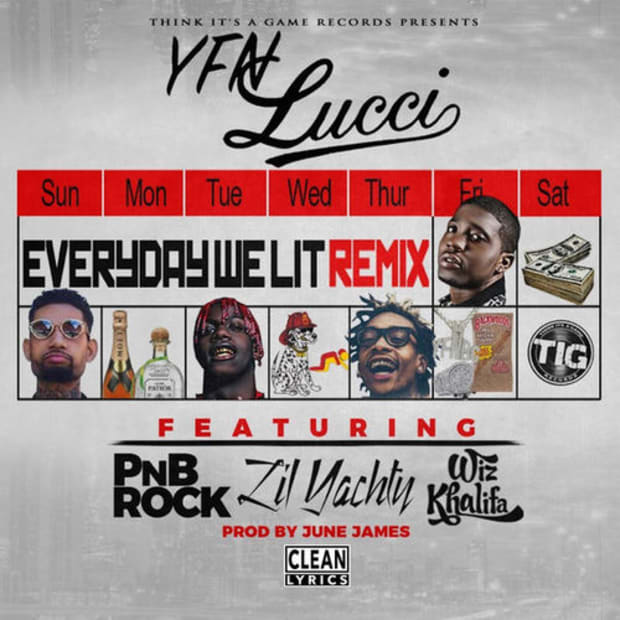 YFN Lucci - Everyday We Lit (Remix) ft  PnB Rock, Lil Yachty