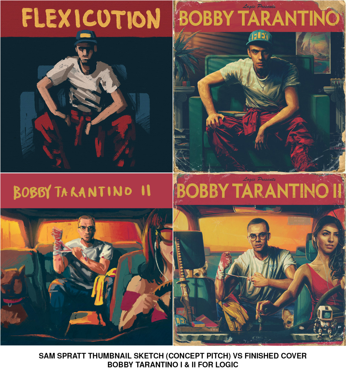 Logic Bobby Tarantino mixtape covers
