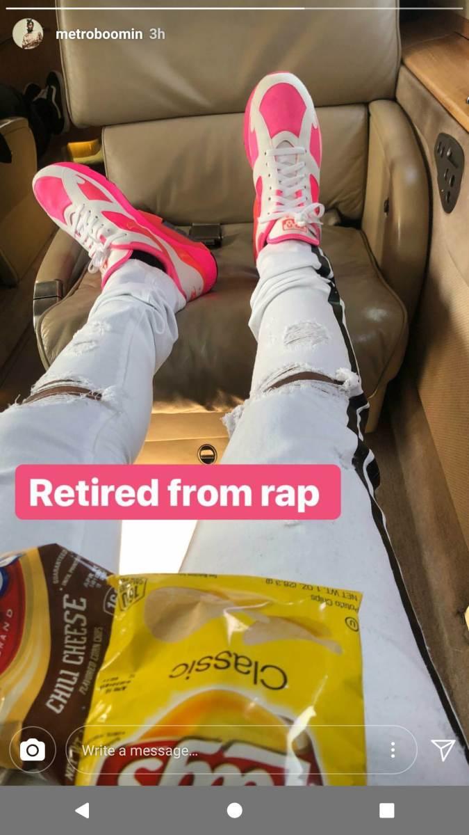 Metro Boomin Instagram Story