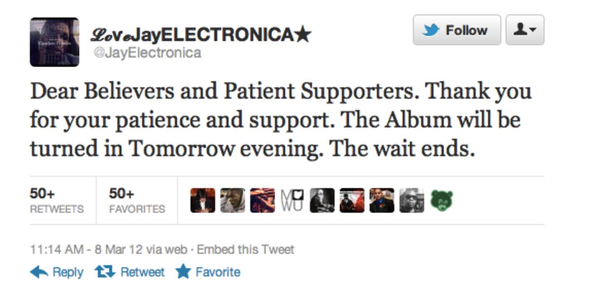 Jay Electronica tweet, 2012