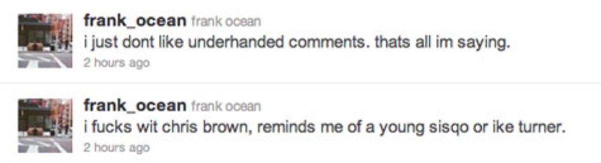 Frank Ocean tweet, 2011