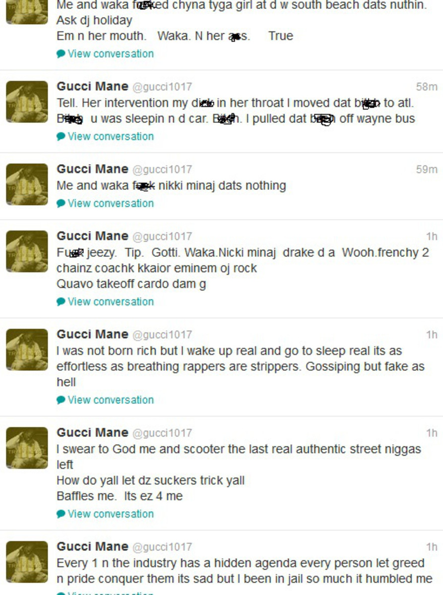 Gucci Mane Twitter rant, 2011