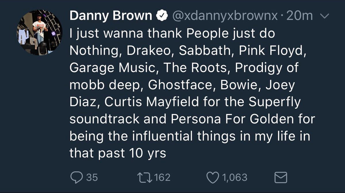 Danny Brown tweets
