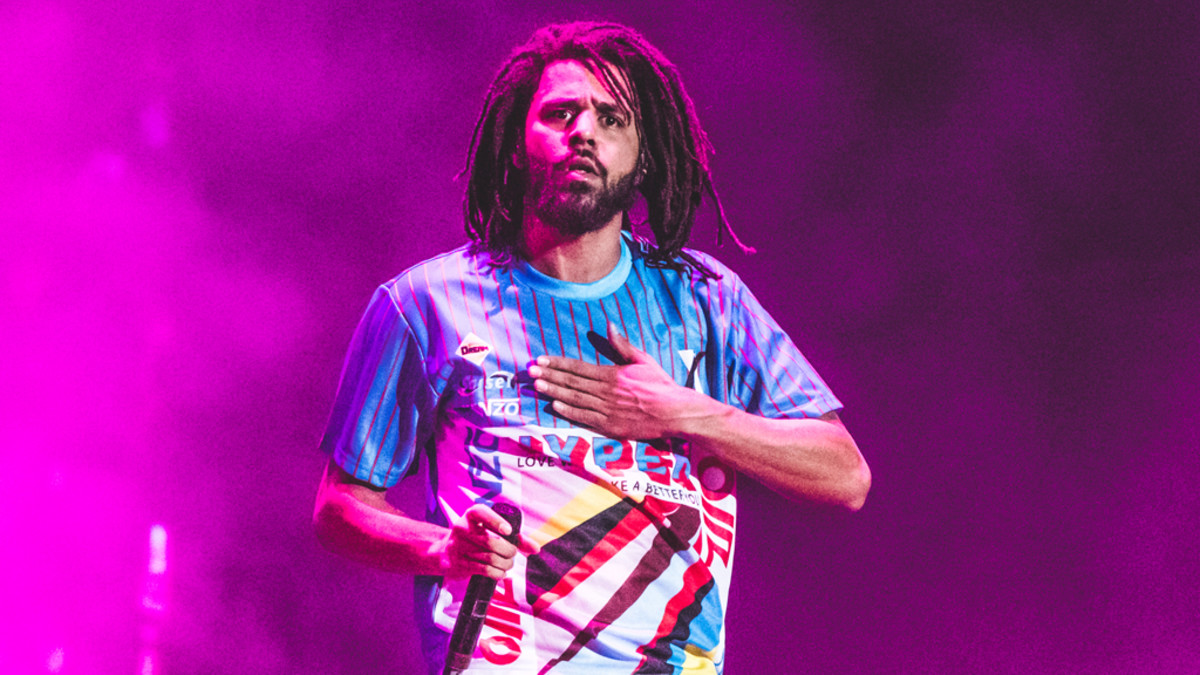 J. Cole performing at Rolling Loud, 2018