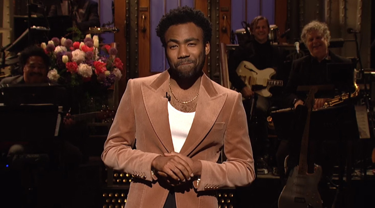 Donald Glover hosting SNL, May 2018