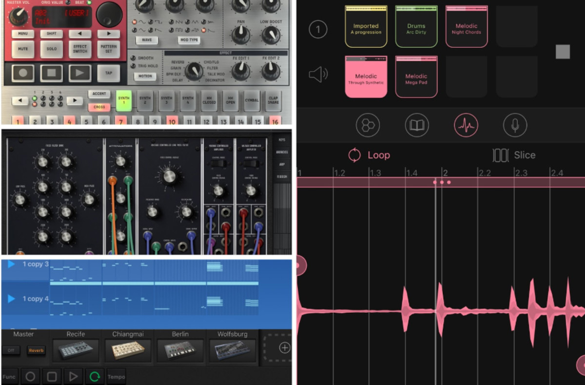 Korg Electribe, Moog Model 15, Korg Gadget, and Novation Blocs Wave are just a few of the many apps the support Ableton Link. Click here for a full list.