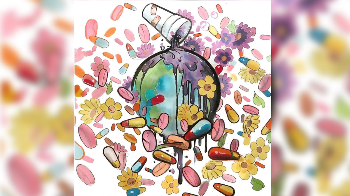 WRLD ON DRUGS artwork
