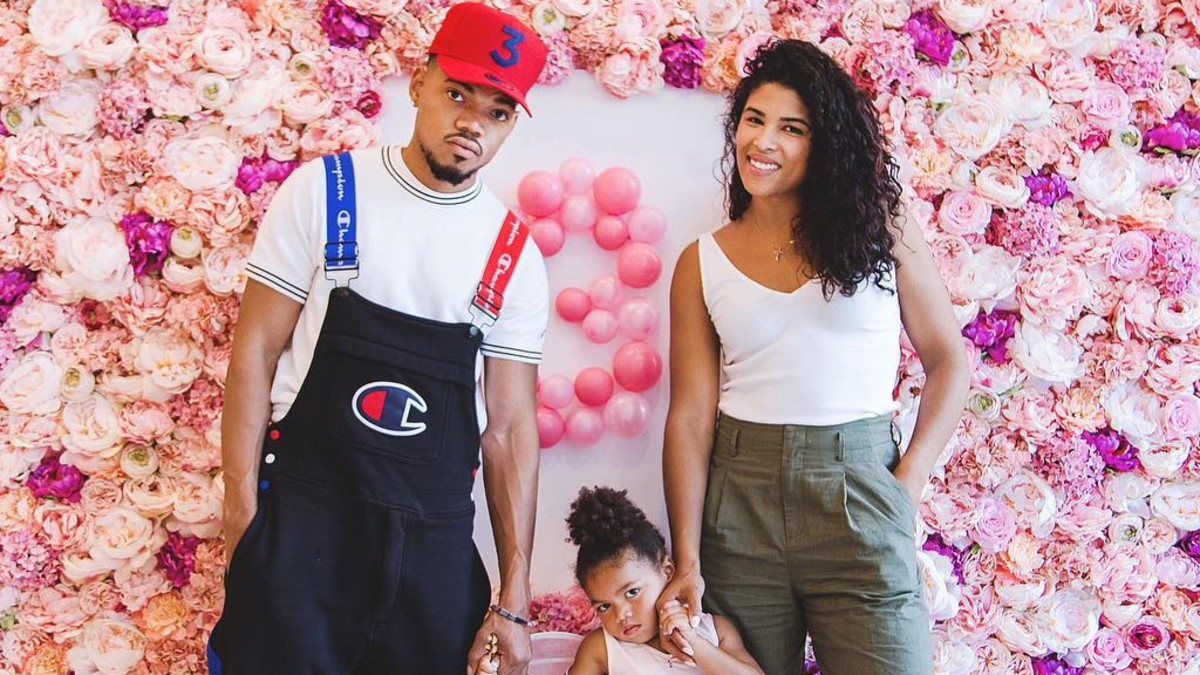 Chance The Rapper, with family.