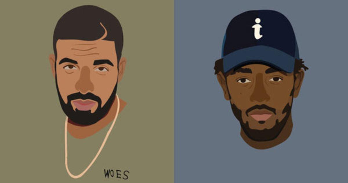 Drake, Kendrick Lamar, art