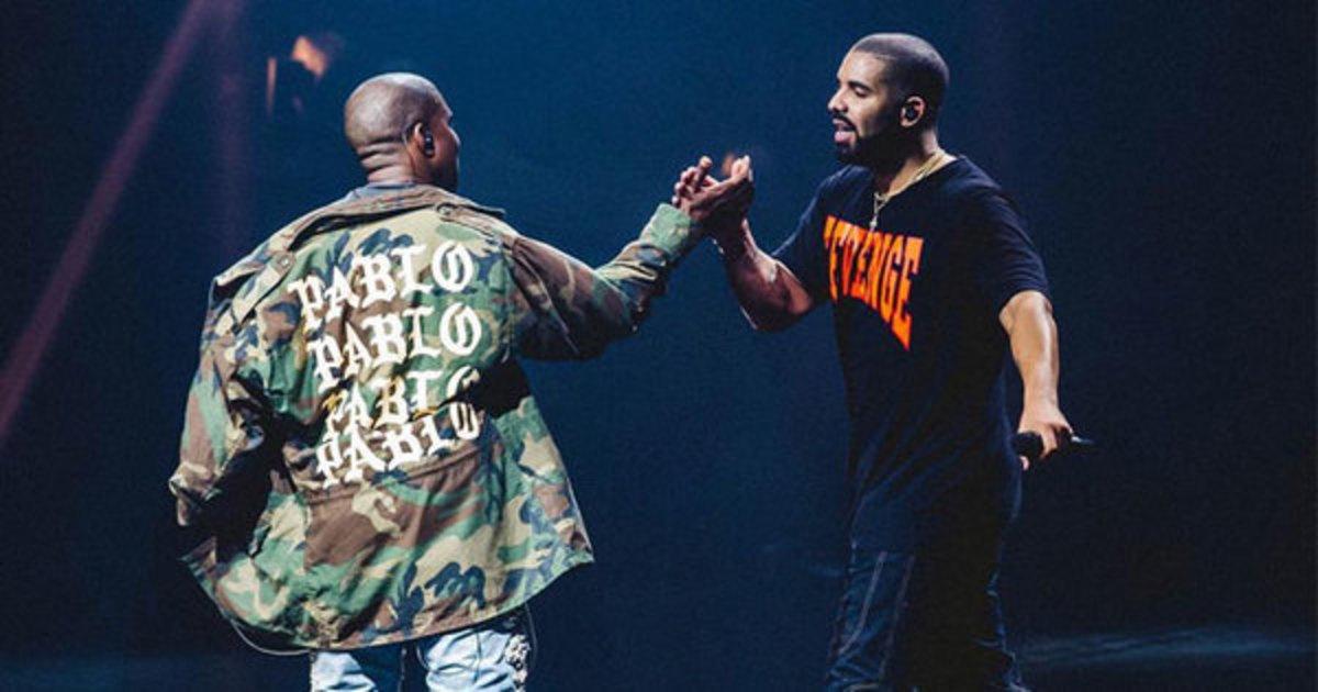 Image result for Kanye and Drake