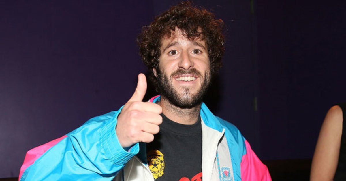 Lil Dicky posing for photo for DJBooth