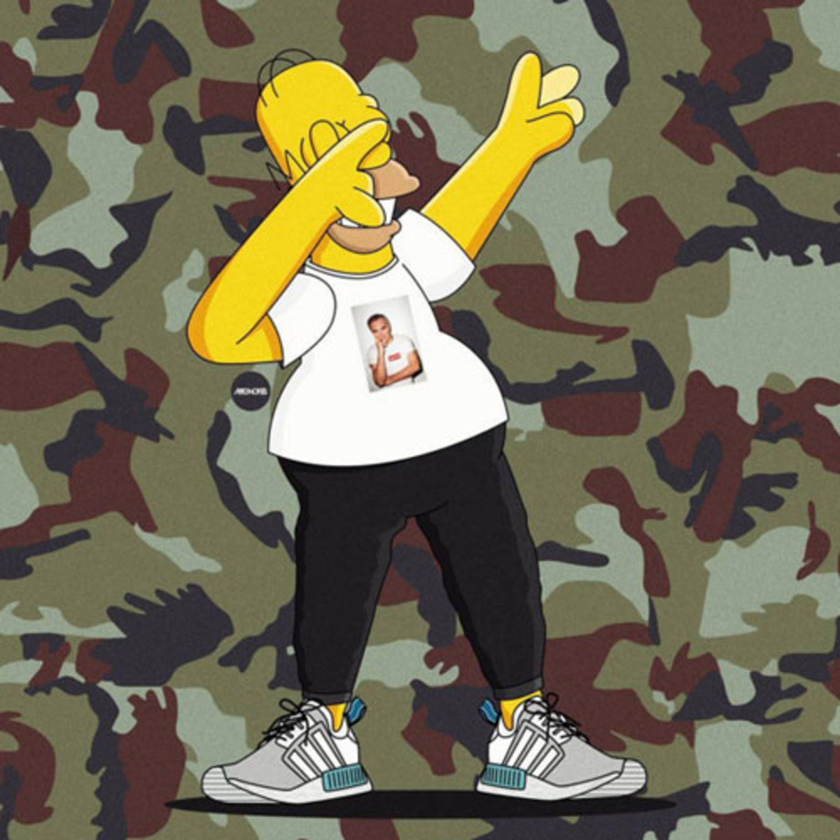 Image result for rap cartoon homer simpson