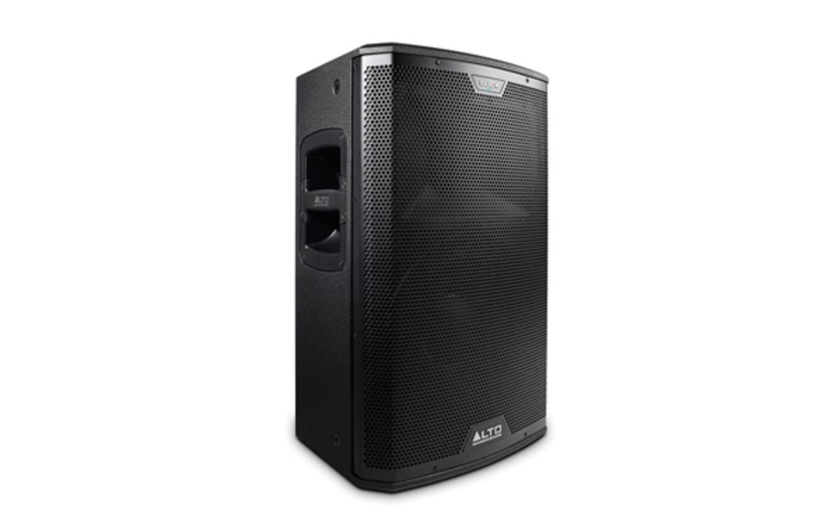 alto professional black 12 powered speaker review djbooth. Black Bedroom Furniture Sets. Home Design Ideas