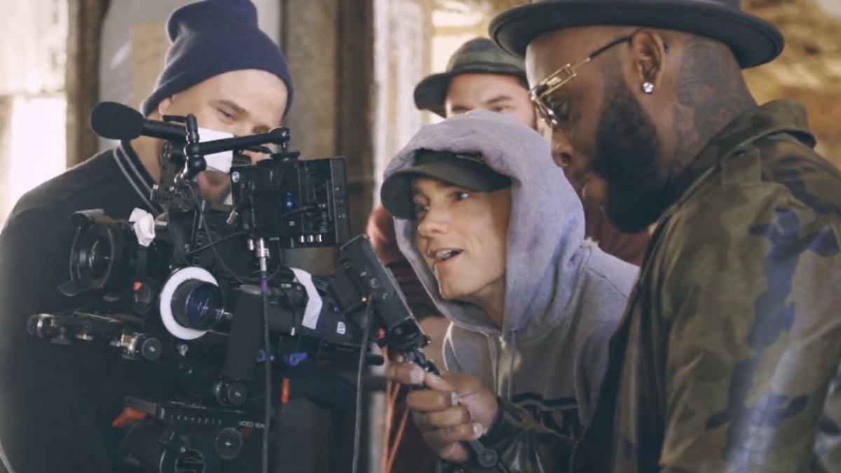 Eminem, behind-the-scenes video