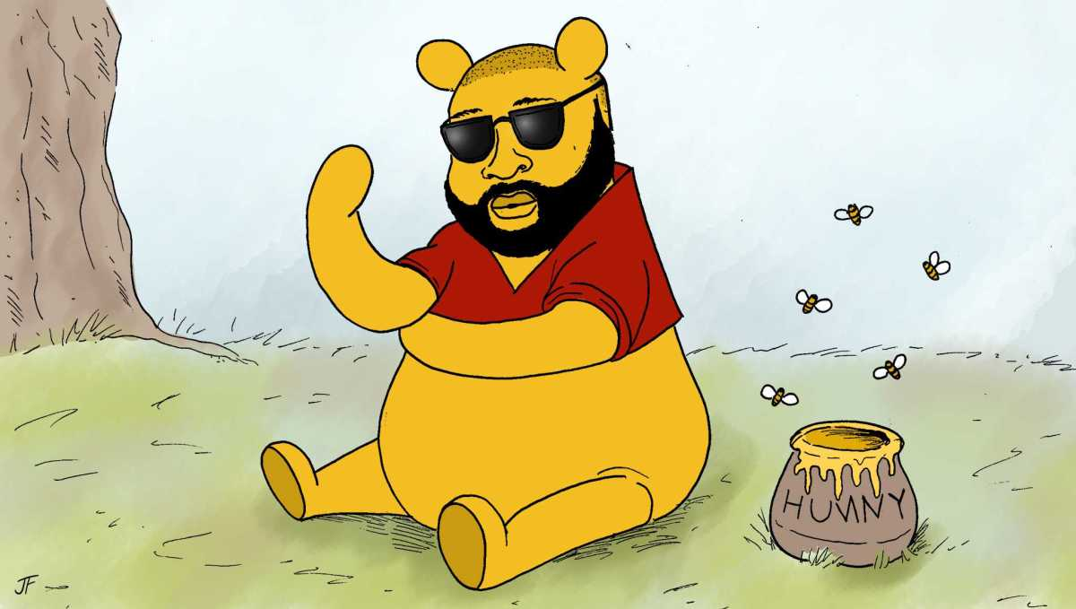 Rick Ross as Winnie The Pooh, 2019