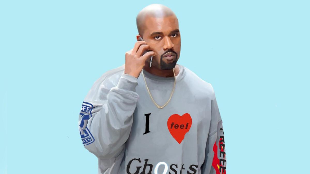 Kanye West, 2018, illustration by Delete. Art