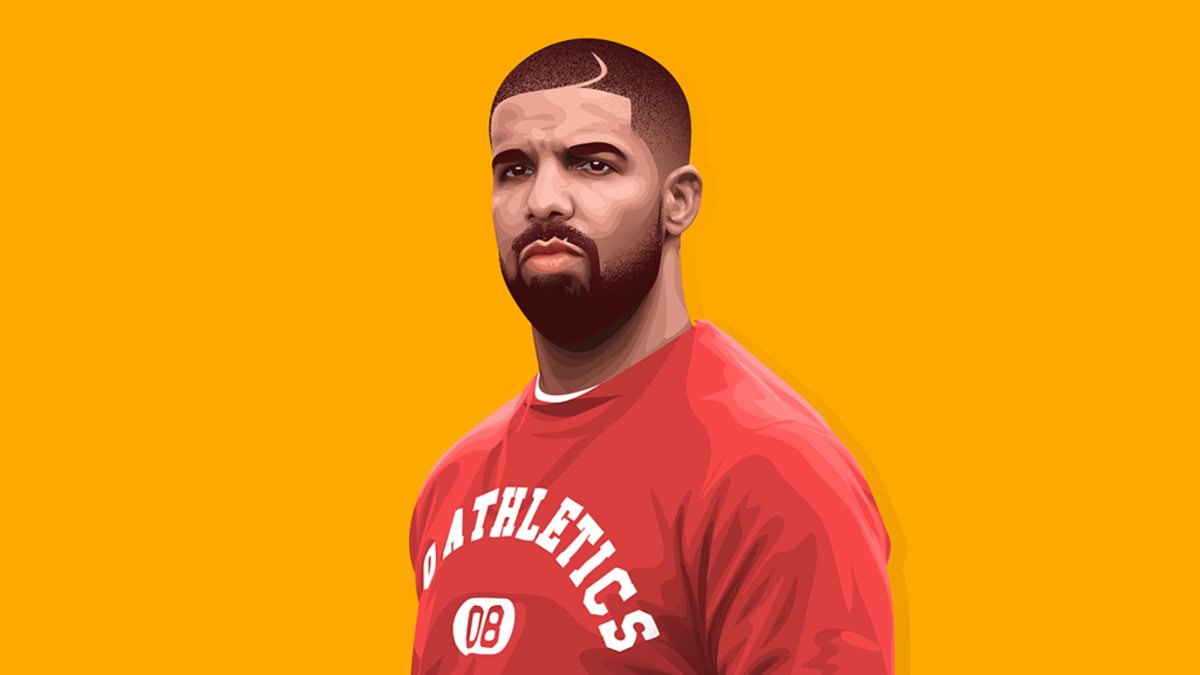 Drake, illustration, art, 2019