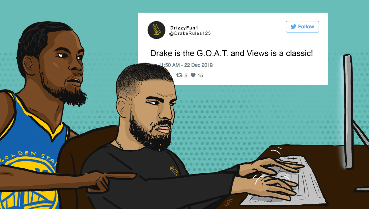 Drake, Kevin Durant, NBA players as hip-hop A&Rs