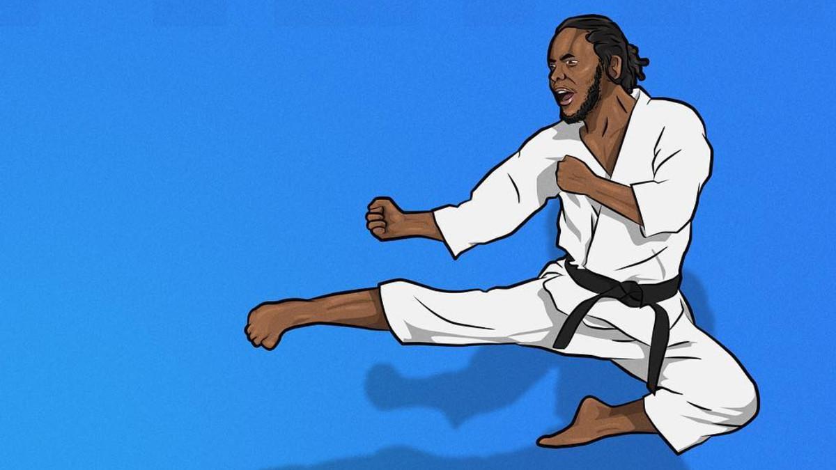Kendrick Lamar, artwork, illustration, Kung Fu Kenny